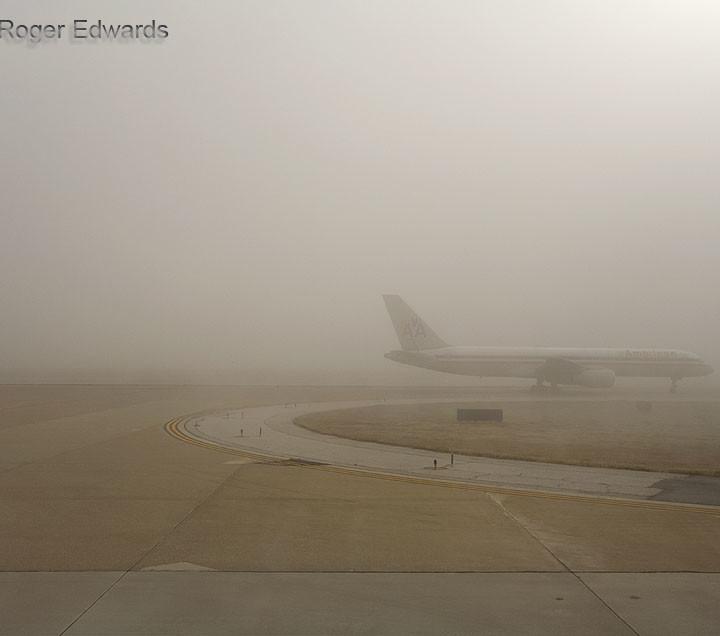 DFW Airport Fog