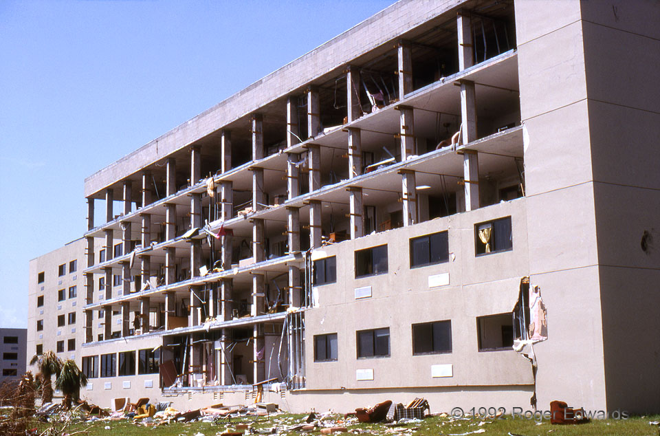 Wall off Apartments (Hurricane Andrew)