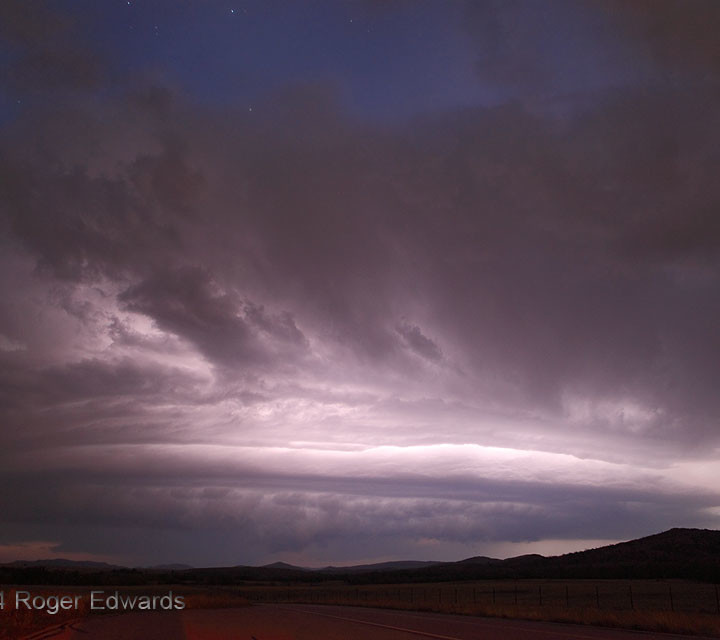 Twilight Storm in the Wichita Mountains