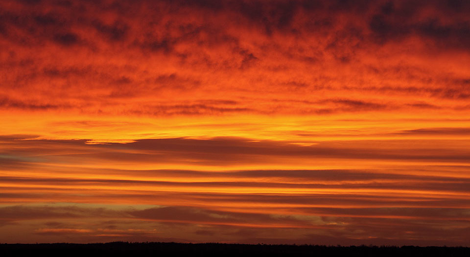 Layers of Orange and Gold