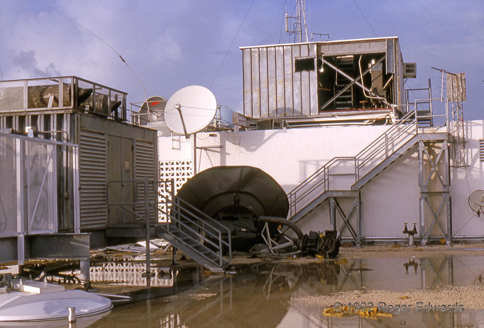 Miami Radome Down after Hurricane Andrew