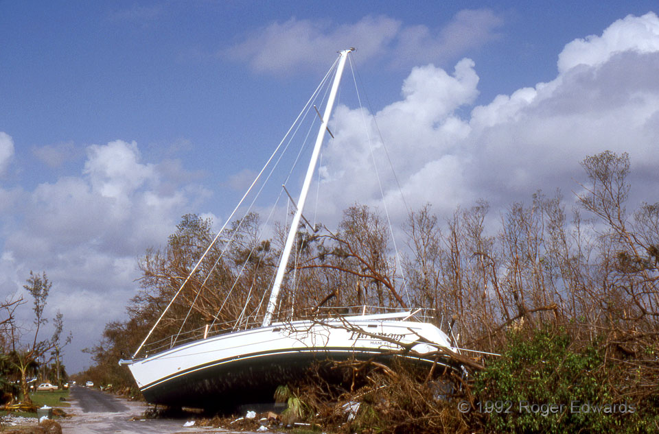 Sailboat Aground (Hurricane Andrew)