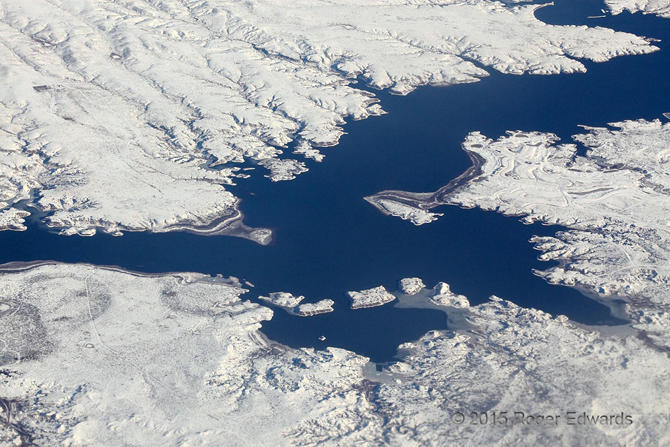 Ute Reservoir Surrounded by Snow