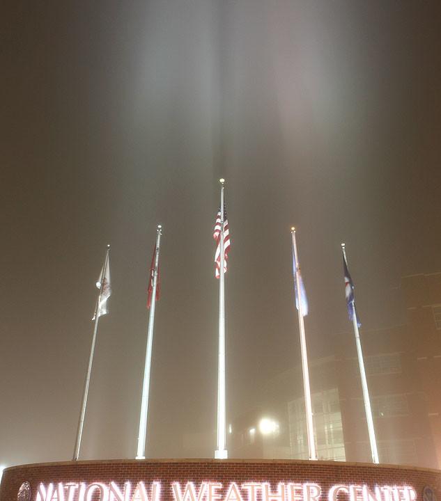 Flags in Fog