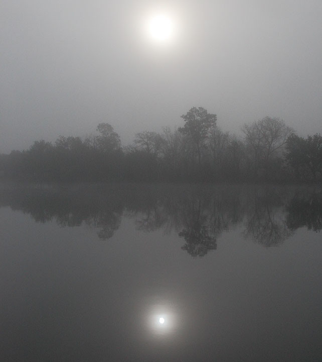Mirroring the Foggy Sun
