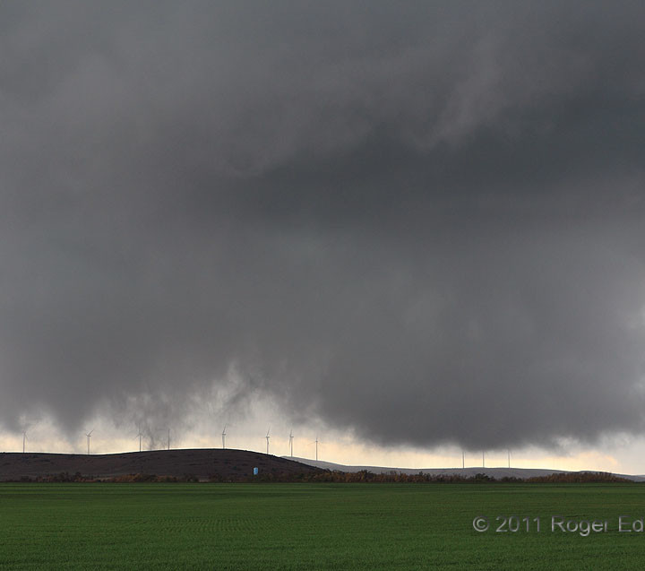 Wind Farm Tornado:  Multiple Vortices