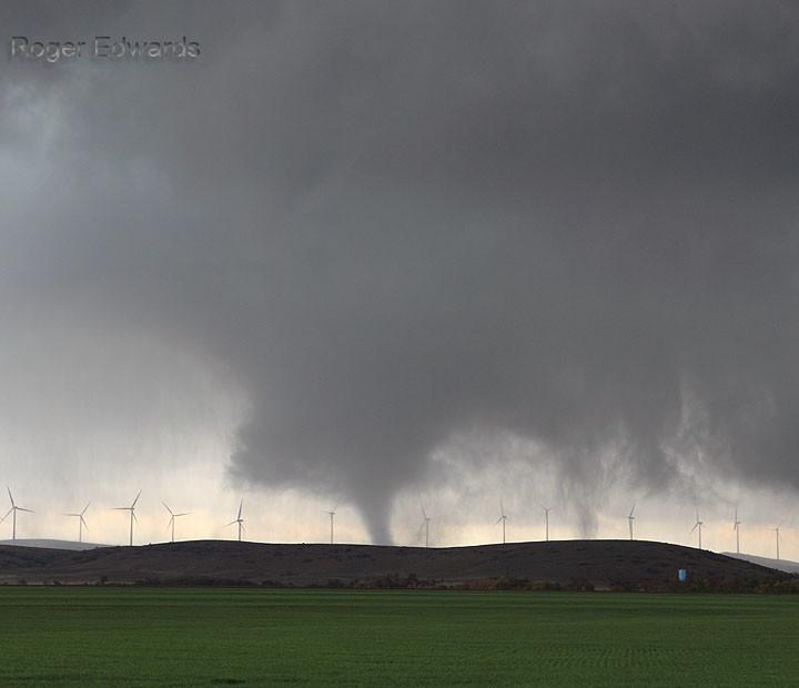 Wind Farm Tornado:  Two Tubes