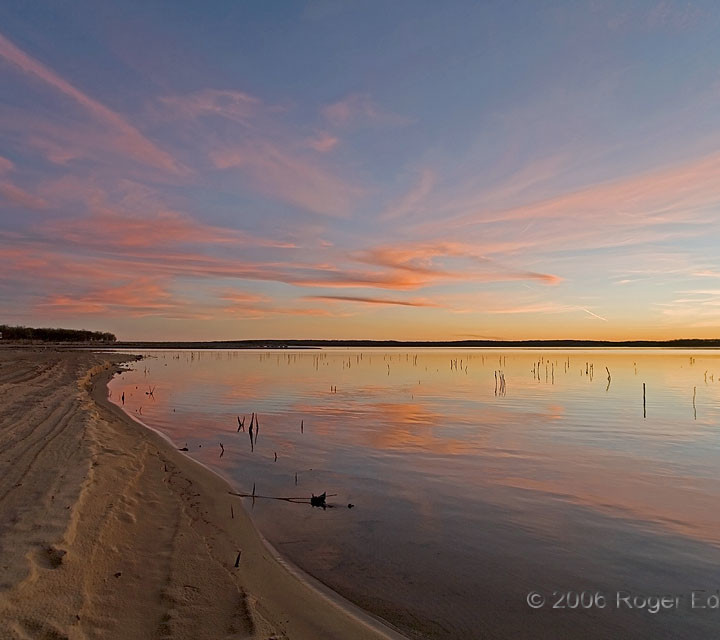Sandy Shore at Sundown
