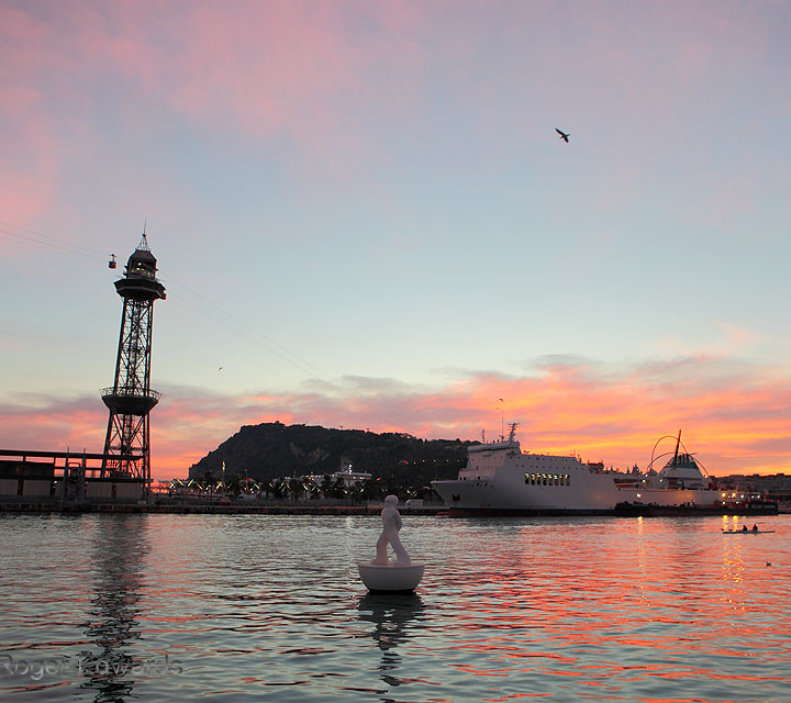 Evening at the Port of Barcelona