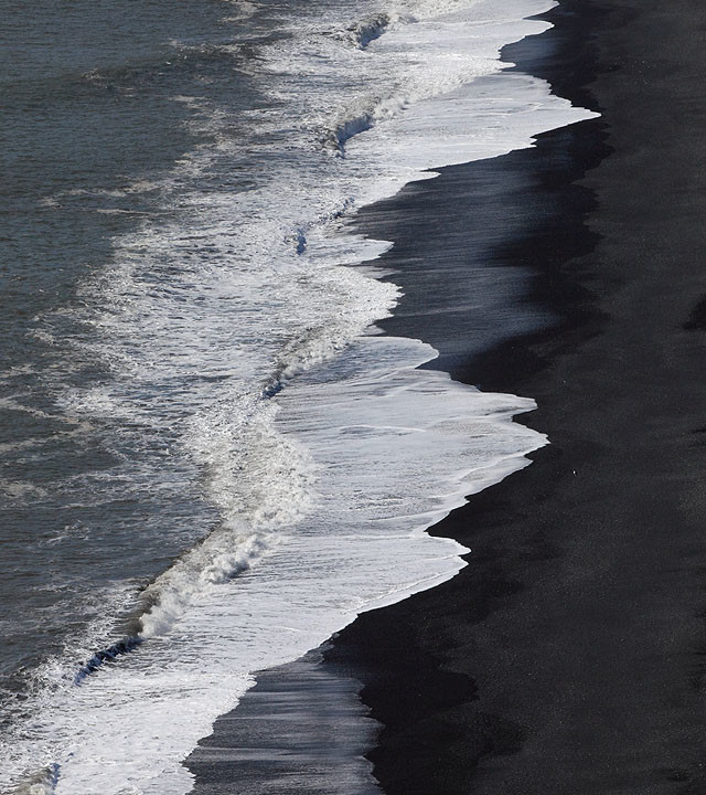 Black Sand and Surf of Dyrholaey