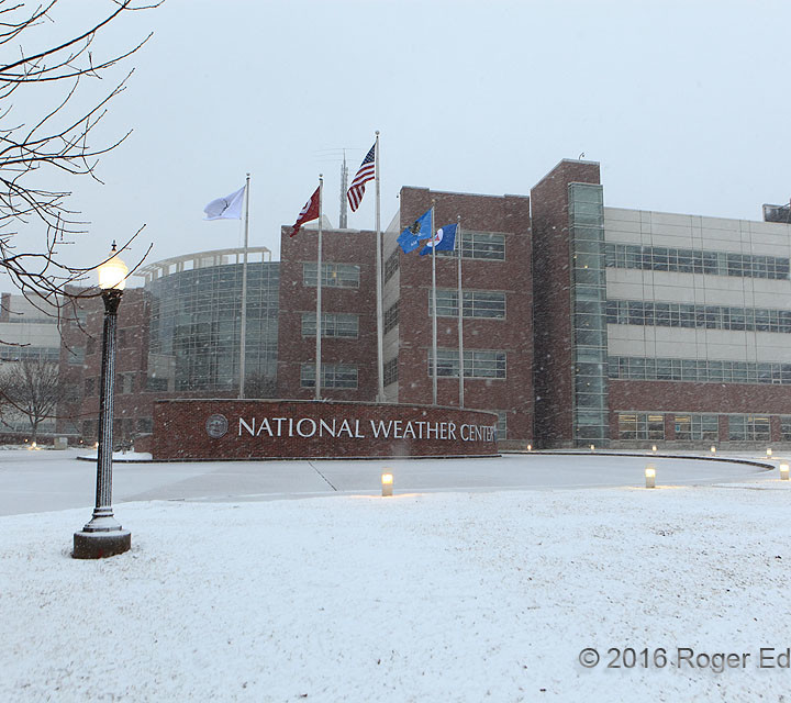 Snowy Morning at the Weather Center