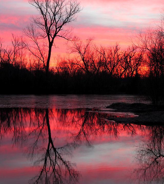 Reflective Winter Sunrise: Redux