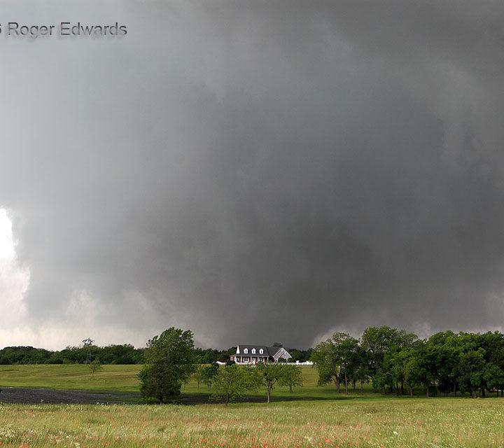 Violent Tornado in Beautiful Countryside