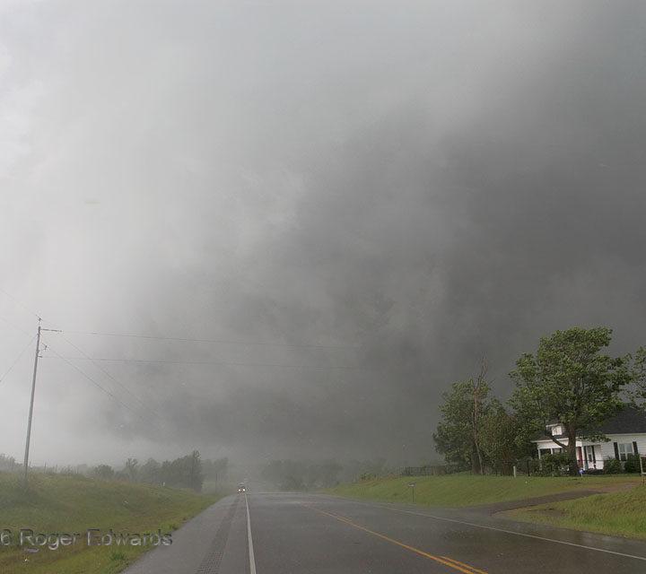 Wet Tornado Roaring off Road