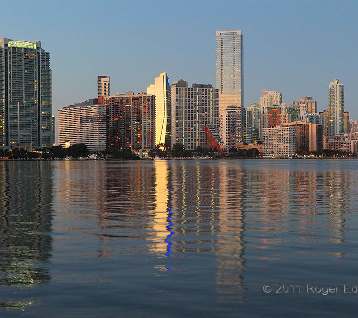 Miami's Twilight Reflections