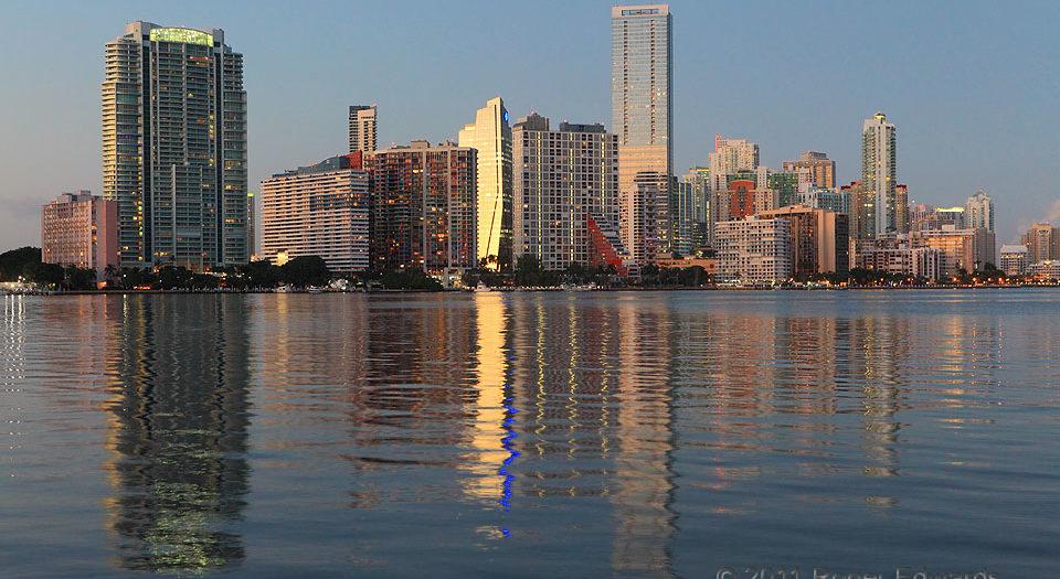 Miami's Twilight Reflections