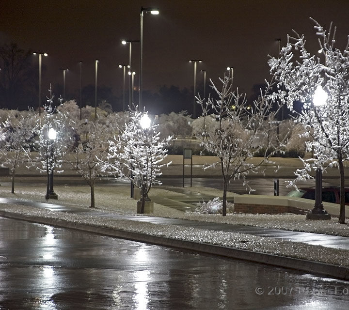 Four Lights in Freezing Rain