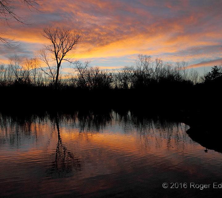 Reflective Winter Sunrise, Again