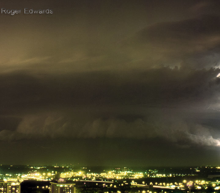 Nighttime Elevated Supercell