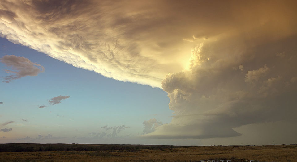 Protection Supercell at Sunset