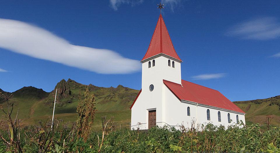 Lenticular Day at an Icelandic Church