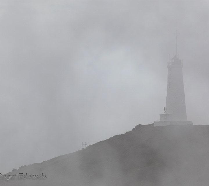 1908 Reykjanes Lighthouse in Fog