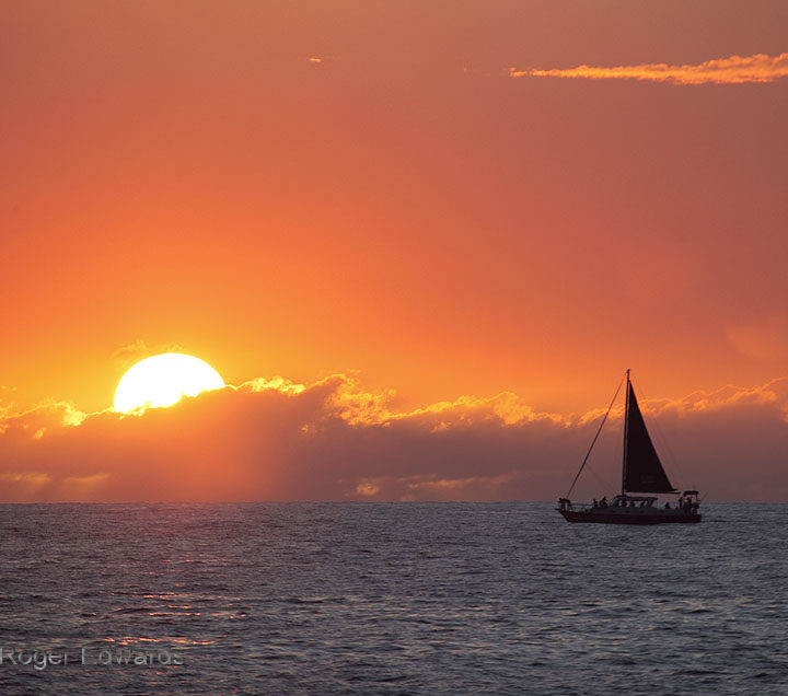 Sunset Sail off the Kona Coast